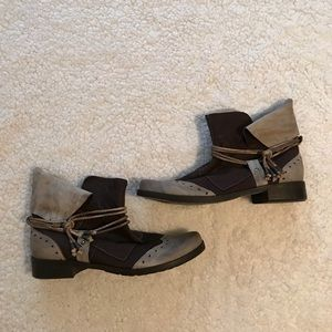 Shoes - Handmade Italian Leather Slouchy Ankle Gypsy Boot